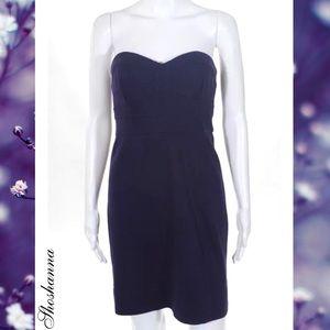 SHOSHANNA Classy Purple Strapless Sheath Dress